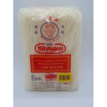 Erawan (Siam) Rice Vermicelli (pkt) 三象牌面线 -1盒12包 银丝米粉